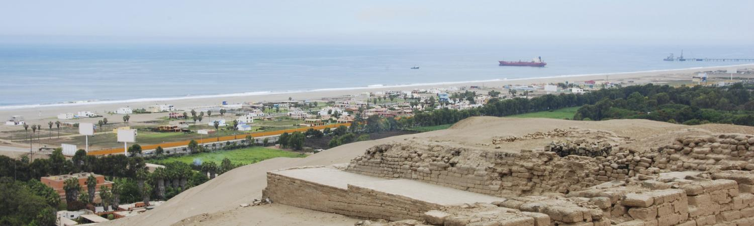 View from Pachacamac ruins