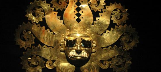 Ancient Peruvian mask made of gold