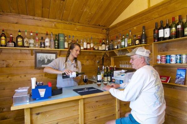 The bar at Denali Backcountry Lodge