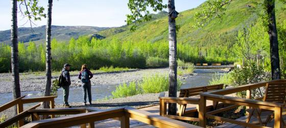 Creek views at Denali Backcountry Lodge