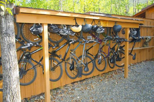 Mt Bikes at Denali Backcountry Lodge