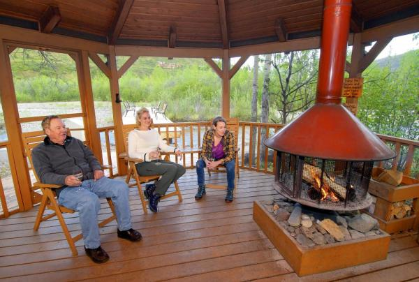 Al fresco campfires at Denali Backcountry Lodge