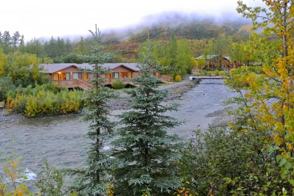 Creekside cabins at Denali Backcountry Lodge