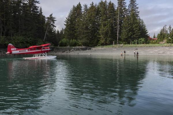 Arrive to Tutka Bay by float plane