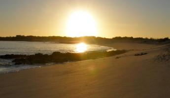 Galapagos as the sun sets