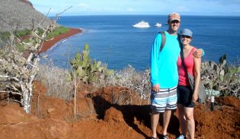 Ryan and Mindy on Rabida Island