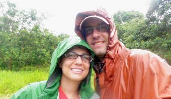 enjoying ourselves in the rain