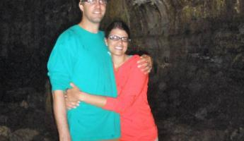 Mindy and Ryan in the Lava Tunnel