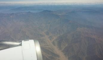 Flying to Lima, Andes below