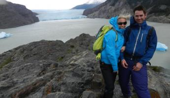 Ian and I in front of Grey Glacier