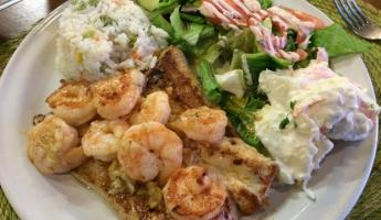 Amazing grilled Sole and Shrimp!
