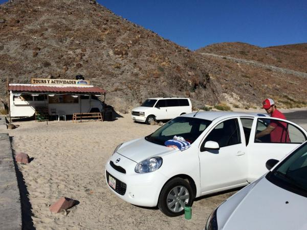 Our tiny rental car got us to the beach!