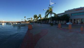 Panorama of the Malecon in La Paz