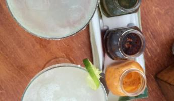 Beautiful colors of our margaritas and sauces