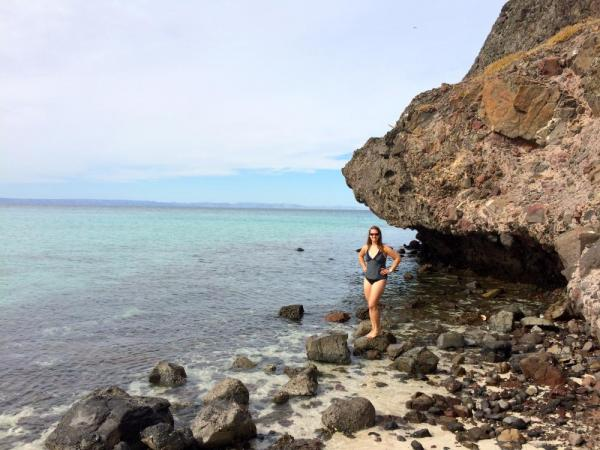 swimming along the Sea of Cortez