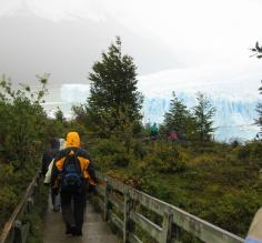 Hiking to Perito Moreno Glacier
