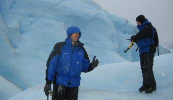 Safety talk on Perito Moreno Glacier