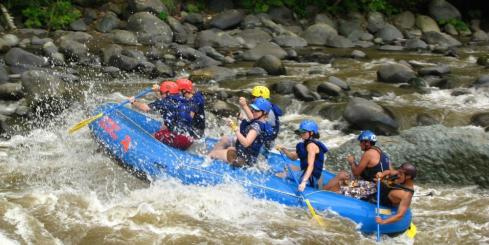 Braving the rapids!