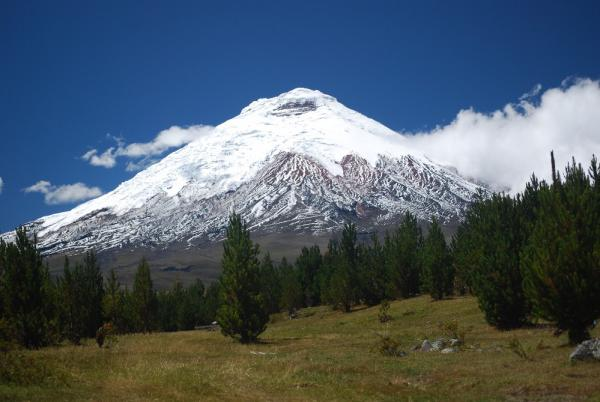 Cotopaxi Volcano with snow