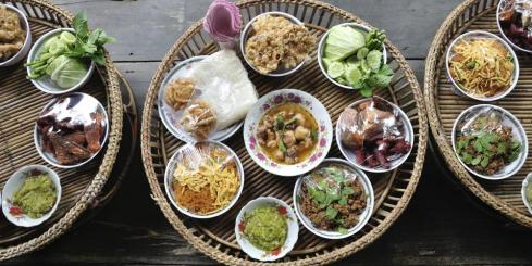 Khantoke dinner traditional of northern Thailand