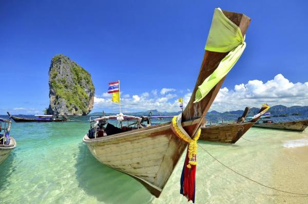 Traditional long-tailed boats in Phuket