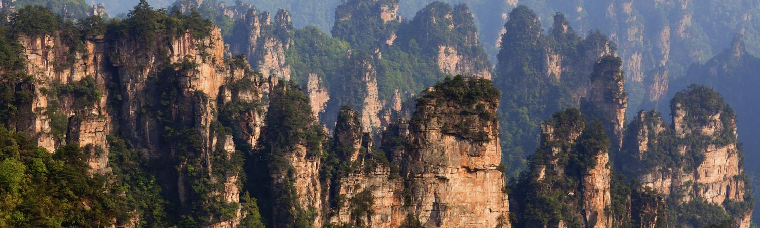 Tianmenshan National Park in Hunan Province