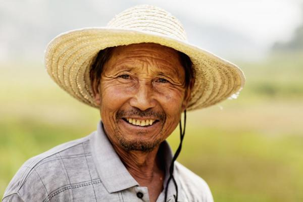 Farmer in rural China