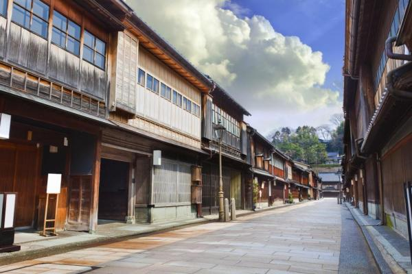 Architecture of Keisha village at Kanazawa
