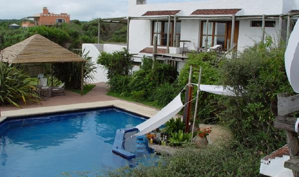 Posado del Faro exterior and pool from second story