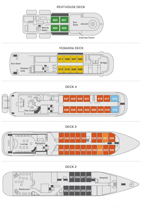 Sea Explorer Deck Plan New