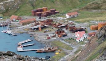 Whaling station in Grytviken