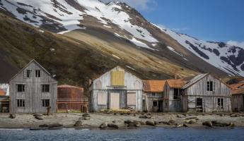 Abandoned whaling village of Stromness, South Georgia