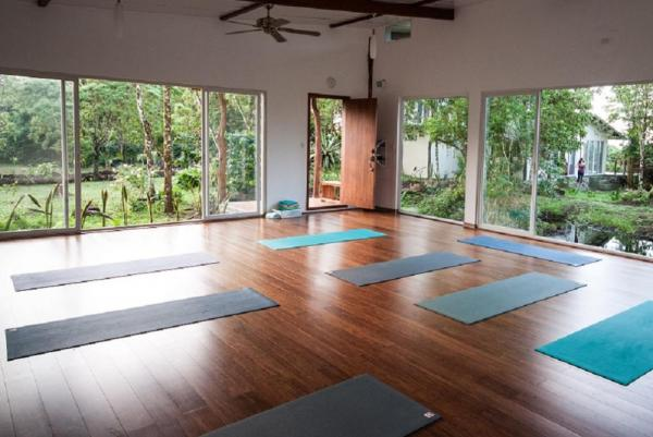 Relax and rejuvenate in the yoga studio