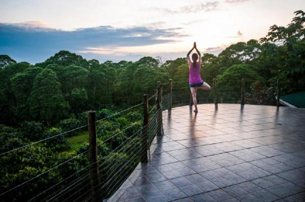 Magnificent views accompany your yoga practice
