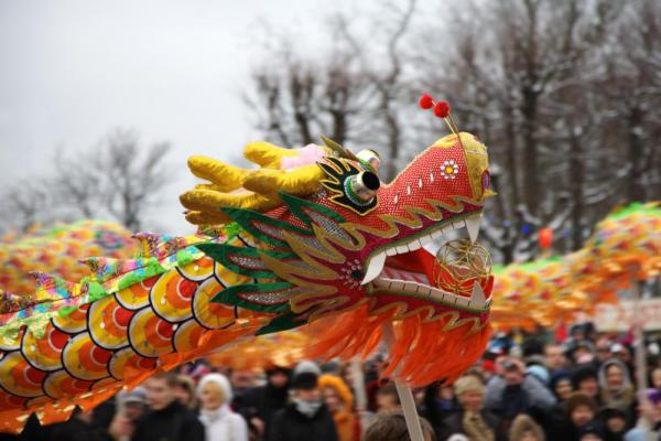 Colorful dragon at Chinese New Year parade