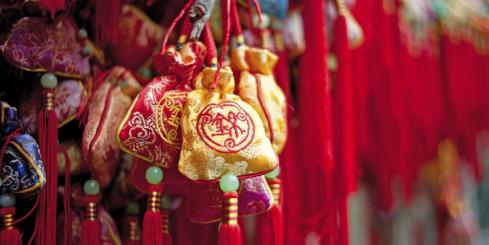Traditional Chinese sachets for New Year's