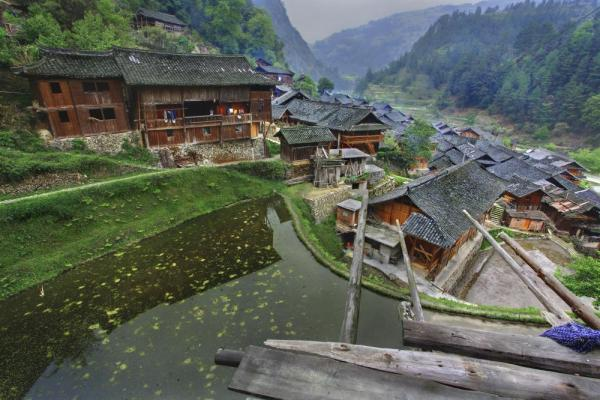 South West China, ethnic village in the mountains