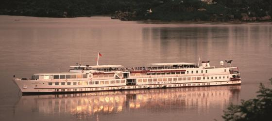 Ayeyarwady River Cruise near Myanmar on the Road to Mandalay