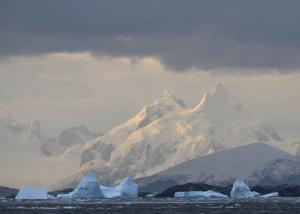Icebergs and land formations of Antarctica