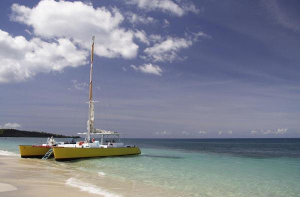 Catamaran on the Costa Rican coast