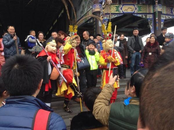 Chinese New Year celebrations at Dujiangyan