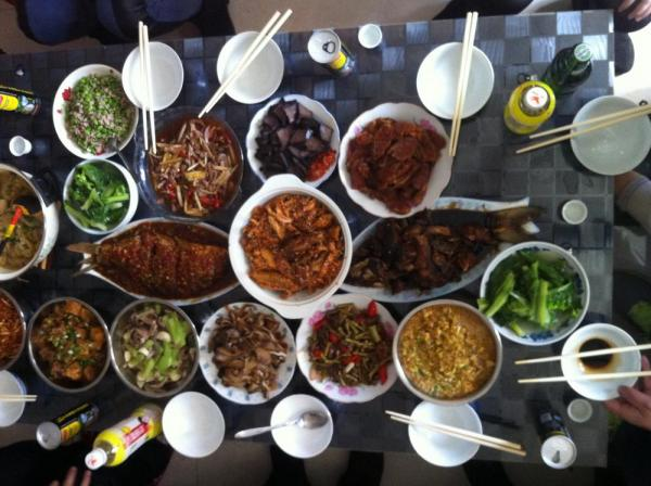 Chinese New Year Eve Feast in Sichuan Province