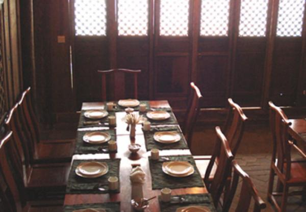 Dine in the Historic Hall at Laomadian Lodge