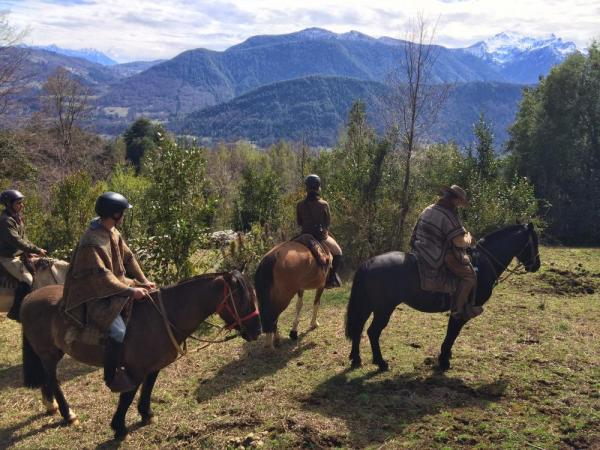 Horseback riding near Pucon, Chile