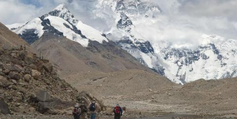 Hiking on Mount Everest