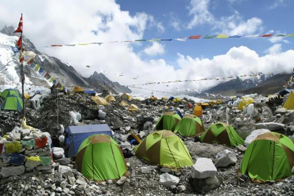 Tents at Everest Base Camp, Nepal