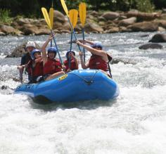 Whitewater rafting the Sarapiqui