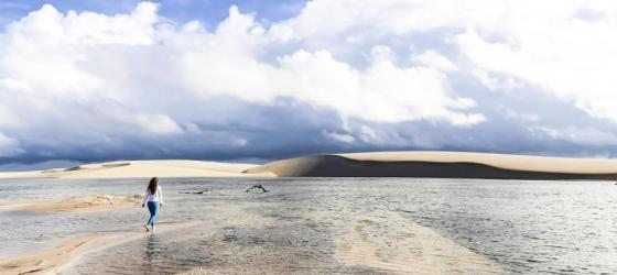 Enjoying the landscape of Lencois Maranhenses National Park