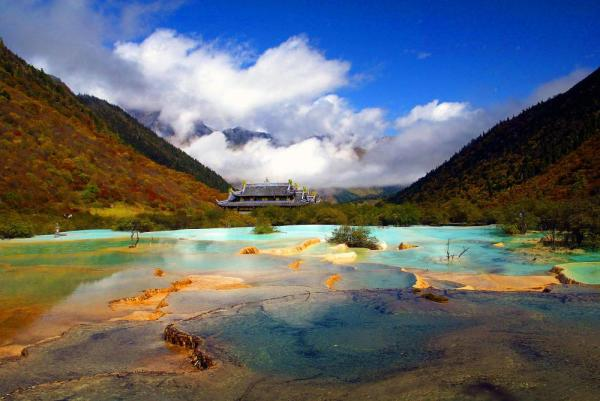 Landscape of Huanglong,China