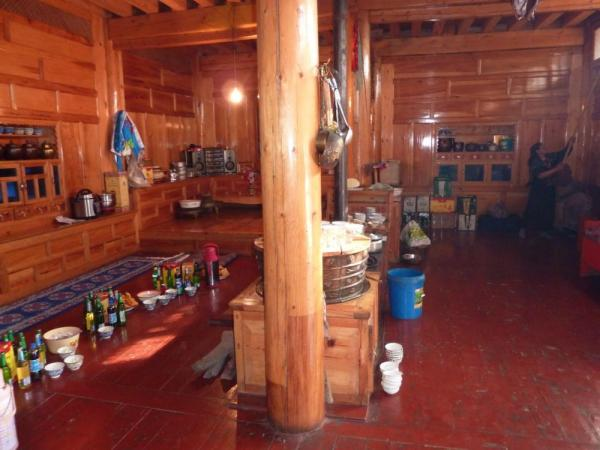Local Tibet family home and kitchen